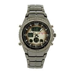 U.S. Polo Assn.® Mens Gray Stainless Steel Analog/Digital Watch
