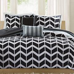 Intelligent Design Piper Chevron Comforter Set