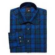 JF J. Ferrar® Easy-Care Stretch Dress Shirt - Slim Fit