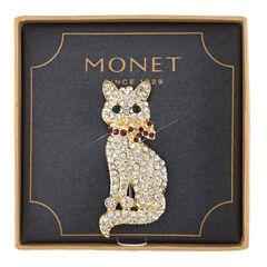 Monet® Crystal Cat Pin