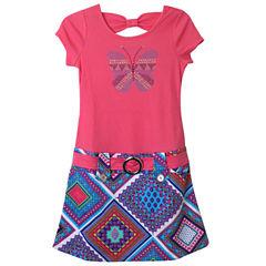 Lilt Short Sleeve Print Skirt Marsha Dress - Girls' 7-12