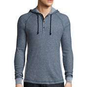 Levi's® Lacer Raglan Pullover Long-Sleeve Woven Shirt