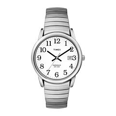 Timex® Easy Reader Mens Stainless Steel Expansion Watch T2H451