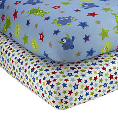 NoJo® Monster Babies 2-pk. Fitted Crib Sheet Set