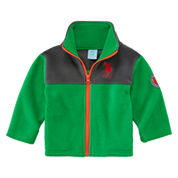 Us Polo Assn. Boys Midweight Fleece Jacket-Baby