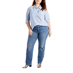 Levi's Straight Fit Straight Leg Jeans-Plus