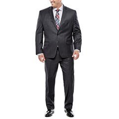 Collection by Michael Strahan Charcoal Windowpane Suit- Big and Tall