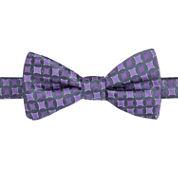 J.Ferrar Solid Pre-Tied Bow Tie