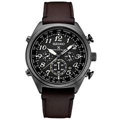 Seiko Prospex Solar Mens Brown Strap Watch-Ssg015