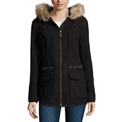 Miss Gallery® Anorak Wool-Blend Coat