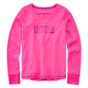 Xersion Girls Long Sleeve T-Shirt-Big Kid