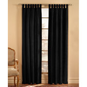 Microsuede Tab-Top Curtain Panel