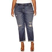 a.n.a® Skinny Fit Boyfriend Jeans - Plus