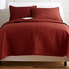Royal Velvet® Matte Satin Square 3-pc. Coverlet Set