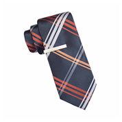 JF J. Ferrar® Ocean Parkway Open Plaid Tie and Tie Bar Set