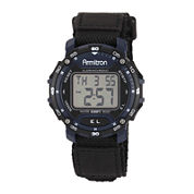Armitron Mens Black Strap Watch-40/8291blu
