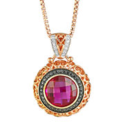 LIMITED QUANTITIES  Lab-Created Ruby & Diamond-Accent Pendant