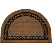 Koko Flocked Iron Gate Coir Wedge Doormat