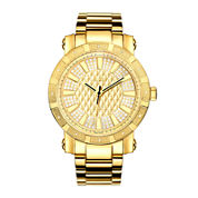 JBW 562 Mens 1/8 CT. T.W. Diamond Gold-Tone Stainless Steel Watch JB-6225-M