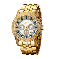 JBW Krypton Mens 1/3 CT. T.W. Diamond Gold-Tone Stainless Steel Watch JB-6219-G