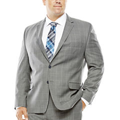 Collection by Michael Strahan Gray Windowpane Suit Jacket - Big & Tall