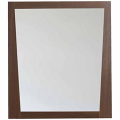 American Imaginations 29.5-in. W X 33.5-in. H Modern Plywood-Melamine Wood Mirror In Wenge