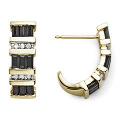 1/10 CT. T.W. Diamond & Genuine Sapphire 10K Gold Earrings