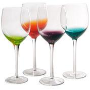 Fizzy Set of 4 Wine Glass Goblets