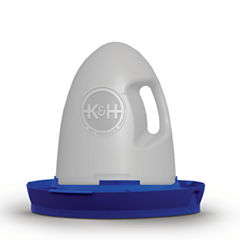 K & H Manufacturing Poultry Waterer 2.5 Gallon Unheated Blue