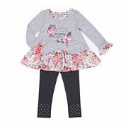 Little Lass Girls Legging Set-Baby