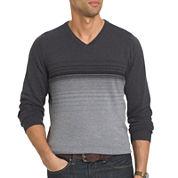 Van Heusen® Striped Fashion V-Neck Sweater