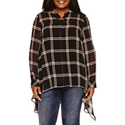 a.n.a® Long-Sleeve Tunic Top - Plus