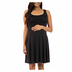 24/7 Comfort Apparel A-Line Dress-Maternity