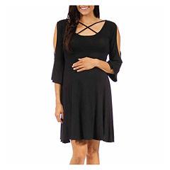 24/7 Comfort Apparel Sheath Dress-Maternity