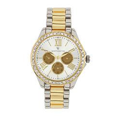 Worthington Womens Two Tone Bracelet Watch-Wt00006-04