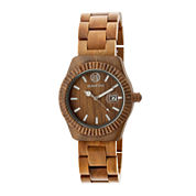 Earth Wood Pith Olive Bracelet Watch With Date Ethew1804
