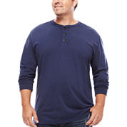 The Foundry Big & Tall Supply Co.™ Long-Sleeve Garment Dye Henley Shirt