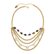 nicole by Nicole Miller® Multicolor Stone Layered-Look Necklace