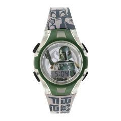 Star Wars® Boba Fett Kids Flashing Digital Watch