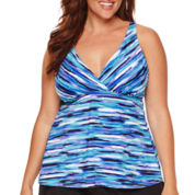 Jamaica Bay® Artist's Stripe Tankini Swim Top