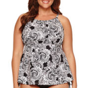 Jamaica Bay® Tidal Swirl Adjustable Tankini Swim Top