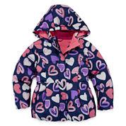 Okie Dokie Girls Midweight Puffer Jacket-Preschool
