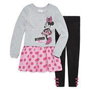 Disney Girls Long Sleeve Peplum Tunic Legging Set