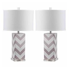 Safavieh Ethan Stripe Table Lamp- Set of 2