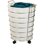 Honey-Can-Do® Chrome Rolling Hamper