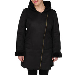 Excelled Faux-Shearling 3/4-Length Coat
