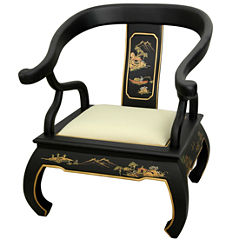 Oriental Furniture Landscape Ming Armchair