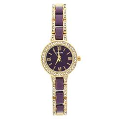 Geneva Womens Gold Tone Bracelet Watch-Jcp2960