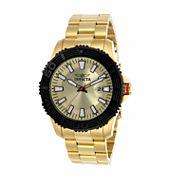 Invicta Mens Gold Tone Bracelet Watch-22408
