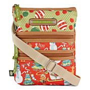 Lily Bloom Multi Section Crossbody Bag